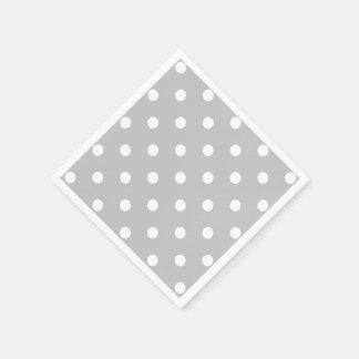 Gray Polka Dot Disposable Serviette