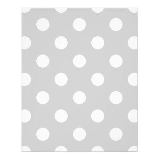 Gray Polka Dot Pattern 11.5 Cm X 14 Cm Flyer
