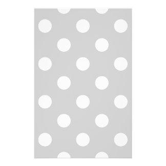 Gray Polka Dot Pattern 14 Cm X 21.5 Cm Flyer