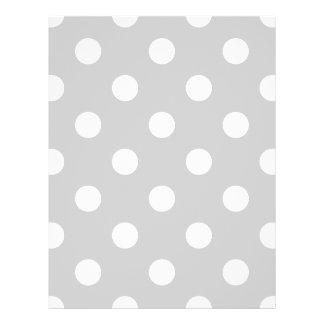 Gray Polka Dot Pattern 21.5 Cm X 28 Cm Flyer