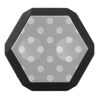 Gray Polka Dot Pattern Black Bluetooth Speaker