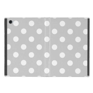 Gray Polka Dot Pattern iPad Mini Cover