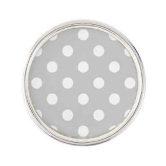 Gray Polka Dot Pattern Lapel Pin
