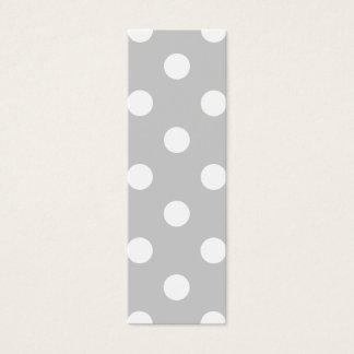 Gray Polka Dot Pattern Mini Business Card