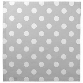 Gray Polka Dot Pattern Napkin