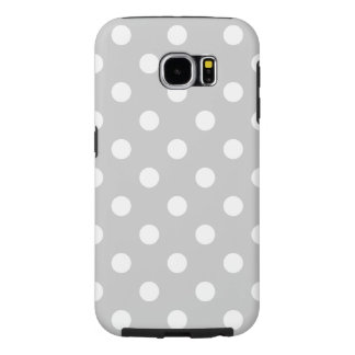 Gray Polka Dot Pattern Samsung Galaxy S6 Cases