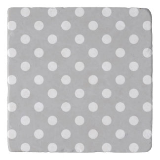 Gray Polka Dot Pattern Trivet