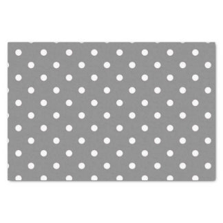 Gray Polka Dot Tissue Paper