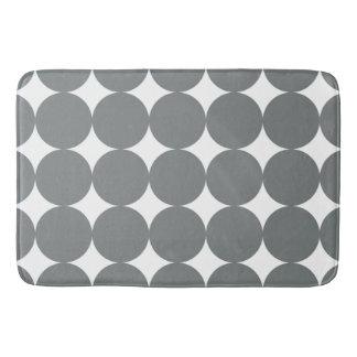 Gray Polka Dots Bath Mat