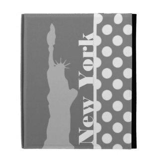 Gray Polka Dots; New York iPad Cases