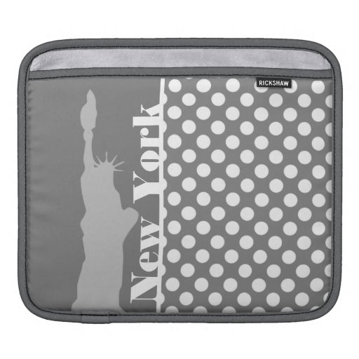 Gray Polka Dots; New York Sleeves For iPads