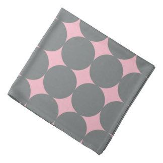 Gray Polka Dots On Pink Retro Pattern Kerchiefs