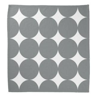 Gray Polka Dots On White Retro Pattern Do-rags