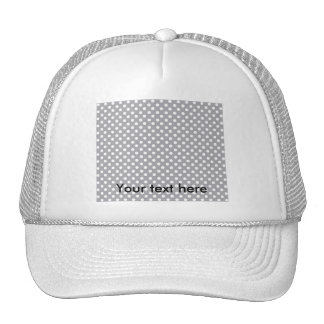 Gray polkadots trucker hat