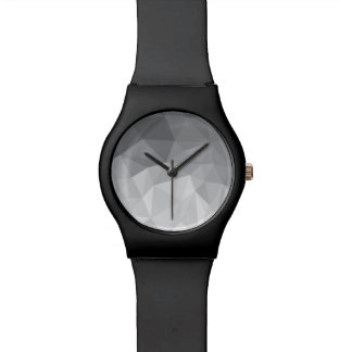 gray polygons watch