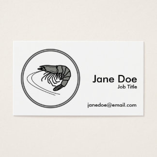 Gray Prawn - Fish Prawn Crab Collection Business Card