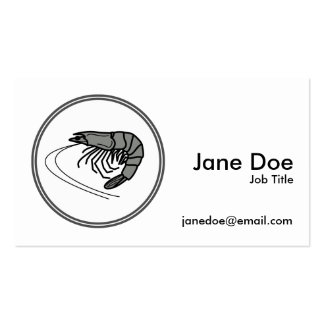 Gray Prawn - Fish Prawn Crab Collection Pack Of Standard Business Cards