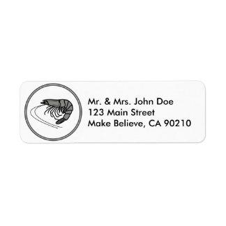 Gray Prawn - Fish Prawn Crab Collection Return Address Label