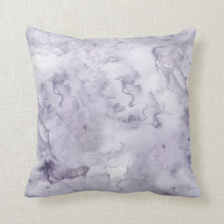 Gray Purple Misty Background Watercolor Pillow
