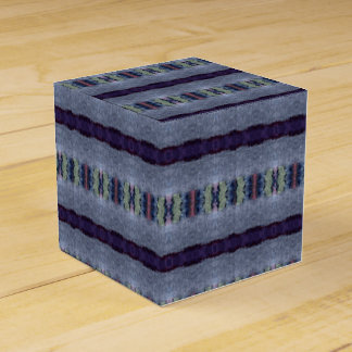 gray purple stripe gift box wedding favour box