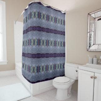 gray purple stripe shower curtain