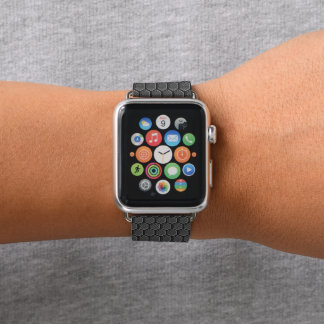 Gray Quatrefoil Pattern Apple Watch Band