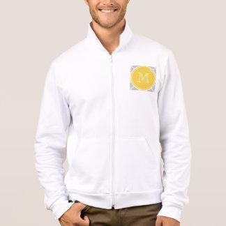 Gray Quatrefoil Pattern, Yellow Monogram Jacket