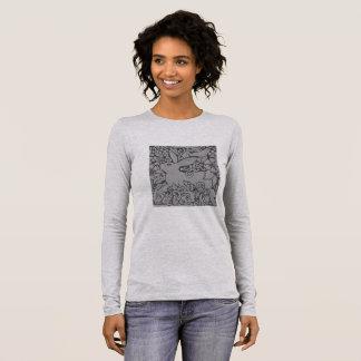 Gray Rabbit & Scrolls Women's Long Sleeve T shirt