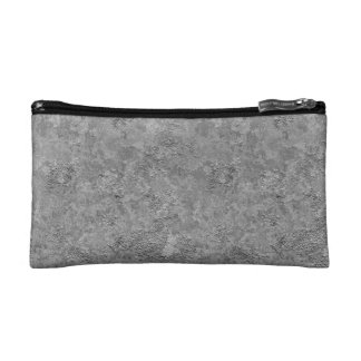 Gray Raw Concrete/Cement Mock-Texture Cosmetic Bag