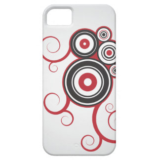 Gray/Red Ring Swirls iPhone5 Case Case For The iPhone 5
