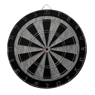 Gray Retro Crumpled Paper Dartboard