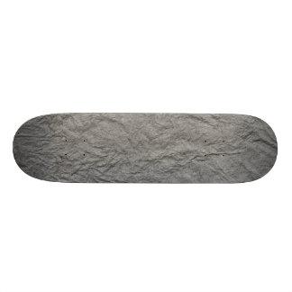 Gray Retro Crumpled Paper Skateboard Deck