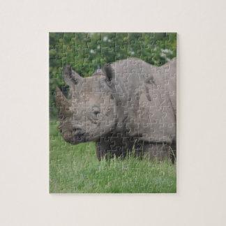 Gray Rhino Jigsaw Puzzle