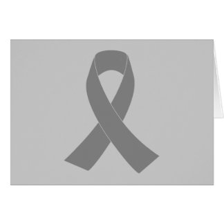 Gray Ribbon Awareness - Zombie, Brain Cancer Card