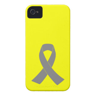 Gray Ribbon Awareness - Zombie, Brain Cancer iPhone 4 Case