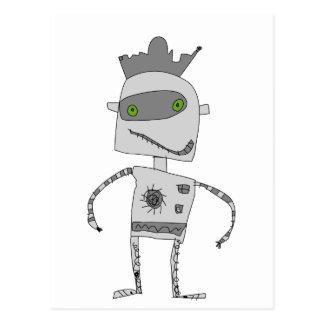 Gray Robot Buddy Postcard
