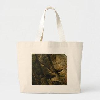 gray rocks of rumble large tote bag