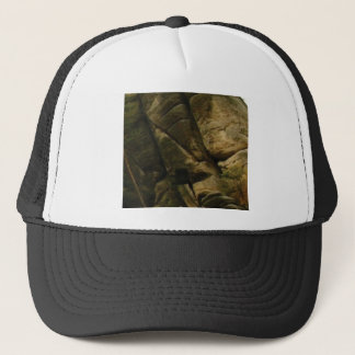 gray rocks of rumble trucker hat