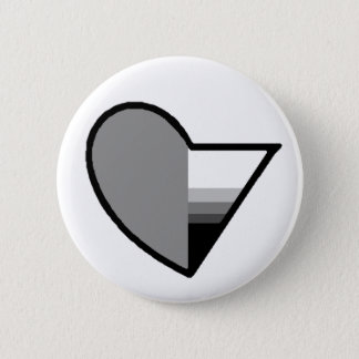 Gray Romantic demisexual button