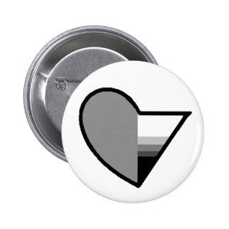 Gray Romantic demisexual button