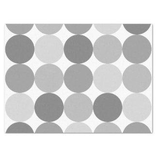 Gray Round Circle Pattern Tissue Paper
