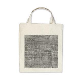 Gray Rustic Burlap Texture Tote Bag