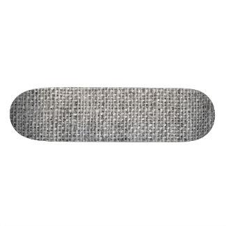 Gray Rustic Burlap Texture Skate Board Decks