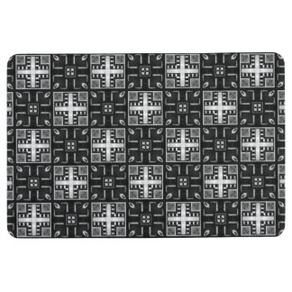 Gray Scale Modern Pattern 235 Floor Mat