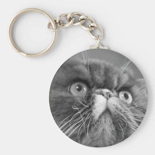 gray scale persian Keychain