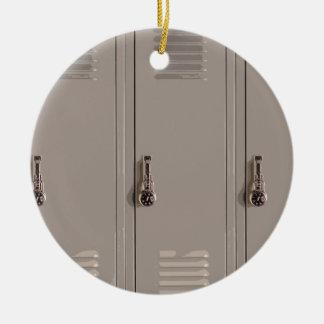 Gray School Lockers High School Student Christmas Tree Ornament