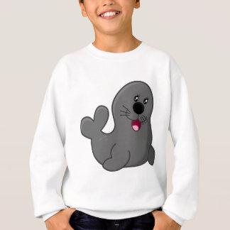 Gray Seal Cartoon Sweatshirt