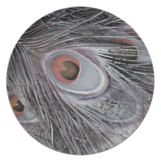 Gray Shadow Feather Plate