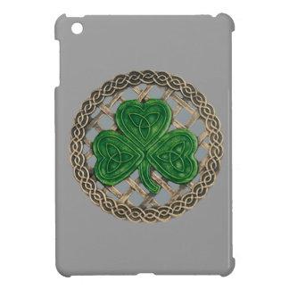 Gray Shamrock On Celtic Knots iPad Mini Case
