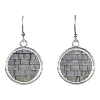 Gray Shingles Earrings